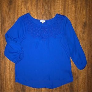 EUC Eyeshadow Royal Blue Blouse
